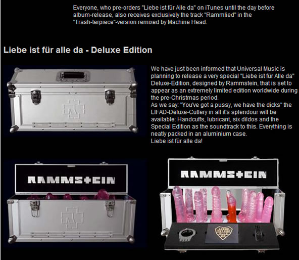 Rammstein - coffret dildos for pussies